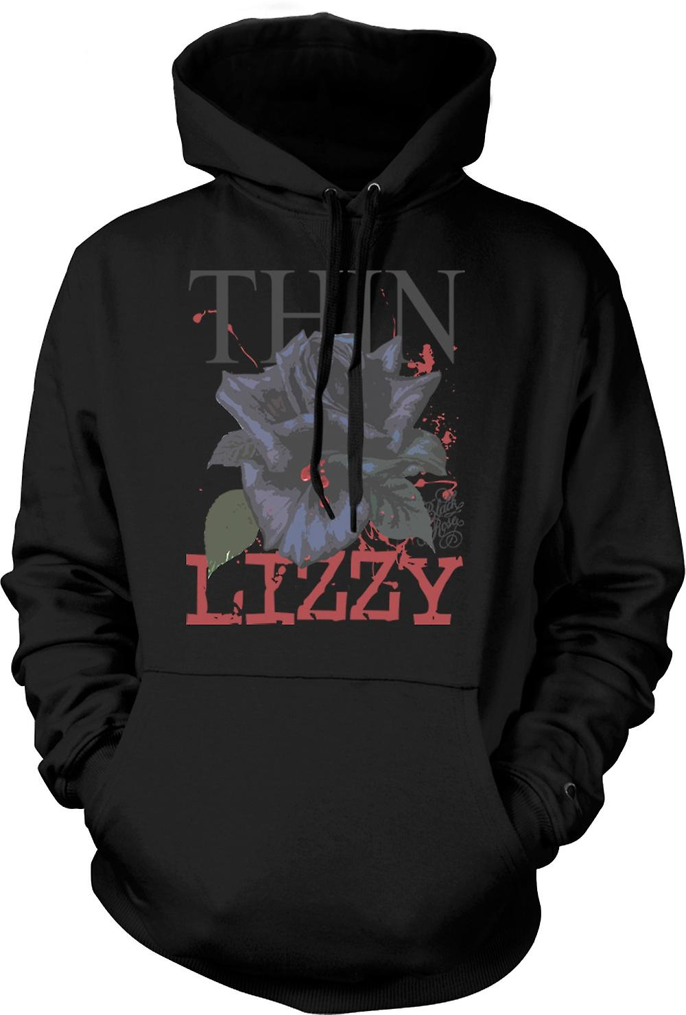 Mens Hoodie - Thin Lizzy-Rose