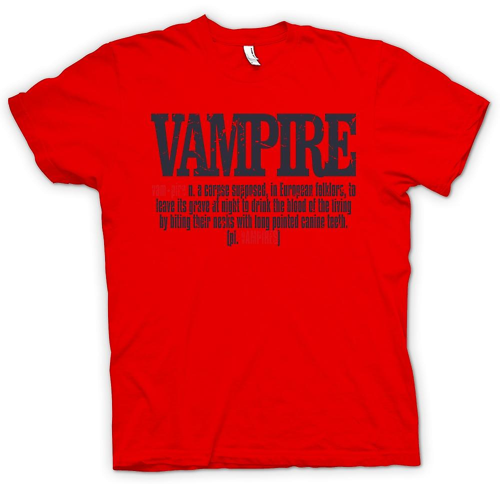 Mens T-shirt - Vampire Definition - Cool Design