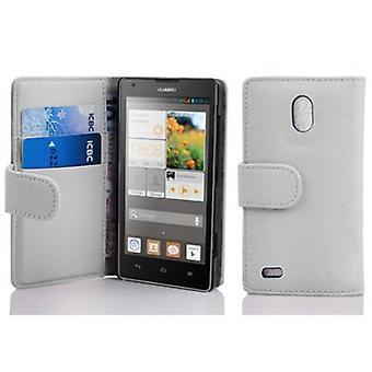 Cadorabo Hülle für Huawei ASCEND G700 -Handyhülle aus strukturiertem Kunstleder mit Standfunktion und Kartenfach – Case Cover Schutzhülle Etui Tasche Book Klapp Style
