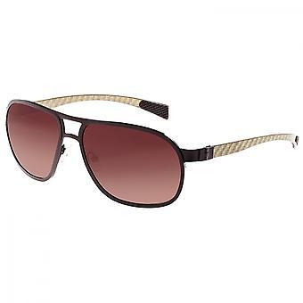 Breed Concorde Titanium and Carbon Fiber Polarized Sunglasses - Brown/Brown