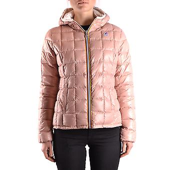 K-way Pink Nylon Down Jacket