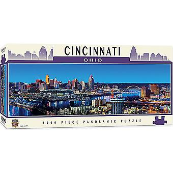 Cincinnati Ohio 1000 piece panoramic jigsaw puzzle 990mm x 330mm (mpc)