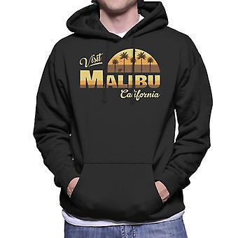 Visita Malibu Retro California felpa con cappuccio