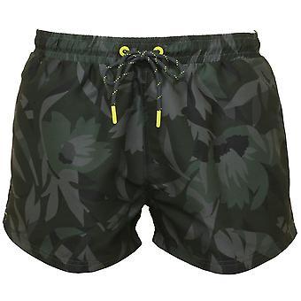 Boss Floral Camo Print Swim Shorts, Khaki
