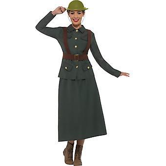 WW2 Army Colonel women's costume Carnival army warden Lady costume