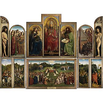 Adoration of the Lamb, Jan Van Eyck, 50x37cm