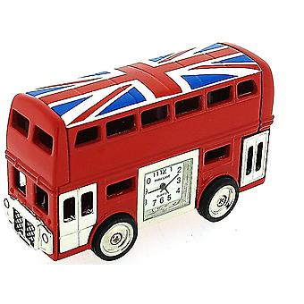 Park Lane rot London Bus mit Union Jack Flag Sammler Neuheit Clock PLCLK145