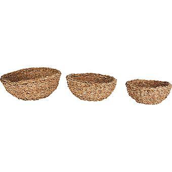 Seagrass Round Mini Bowl Small (Set Of 3)