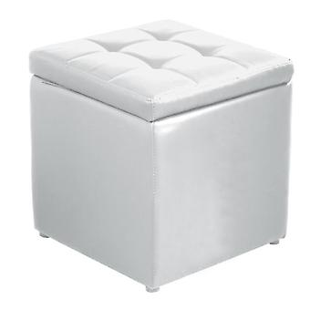 Pu Leather Cube Ottoman Hinge Top Seat