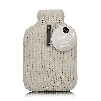 Jersey Designer Chunky hånd Strik 2L varmt vandflaske: creme