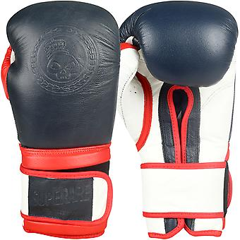 Superare Americana Hook and Loop Training Boxing Gloves - Red/White/Blue