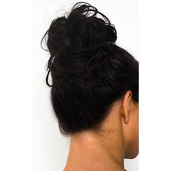 IKRUSH mujeres Willow Scrunchie Extensiones de pelo - Curly Dark Brown