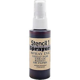 Stencil1 Sprayers Standard Colors 2oz-Brown SP-ST-BROWN