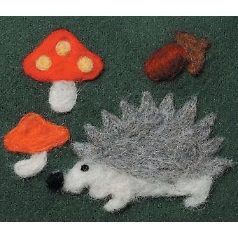 Felting Needle Applique Mold Hedgehog & Mushrooms 892 8