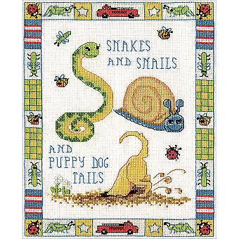 Snakes And Snails Counted Cross Stitch Kit-8