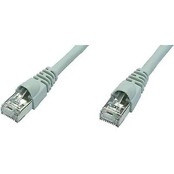 RJ49 Networks Cable CAT 6A S/FTP 0.5 m White Flame-retardant, incl. detent Telegärtner