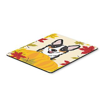 Tricolor Corgi Thanksgiving Mouse Pad, Hot Pad or Trivet BB2061MP