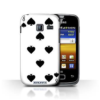 STUFF4 Case/Cover for Samsung Galaxy Y Duos/S6102/8 of Spades/Playing Cards