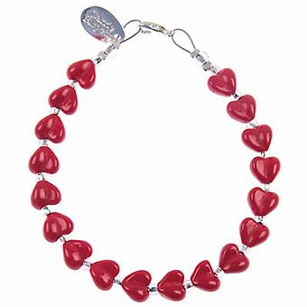 Carrie Elspeth Red Kisses Heart Bracelet