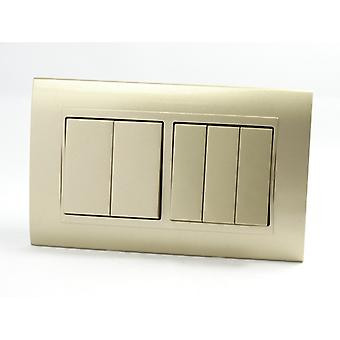 I LumoS AS Luxury Gold Plastic Arc Double  Frame Rocker Light Switches