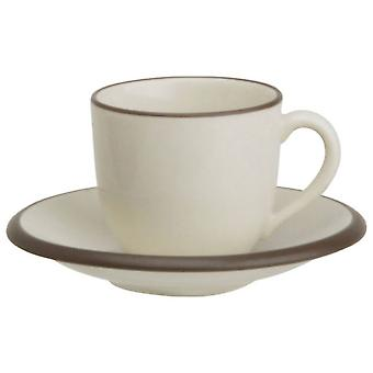 Avet Coffee Cup With Plate 120 Ml Set of 6