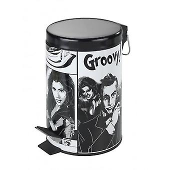Wenko pedal bin groovy  3 l  (Bathroom accessories , Bathroom waste bins)