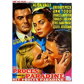 The Paradine Case Louis Jourdan Alida Valli Gregory Peck Ann Todd 1947 Movie Poster Masterprint
