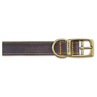 Timberwolf Leather Collar Sable 16mm X28-36cm