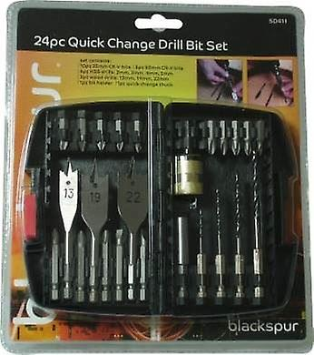 24pc Quick Change Drill Bit Set