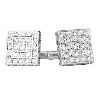 Iced out Hip Hip cufflinks - square bling