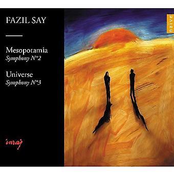F. sige - Fazil Say: Symfonier nr. 2 & 3 [CD] USA importerer