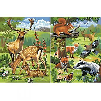 KSG animales del bosque Twin Pack Junior pintura por número