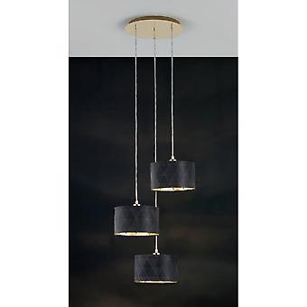 Eglo DOLORITA Dark Drum Cluster 3 Light Pendant