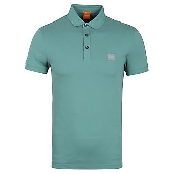 BOSS Orange Pavlik Slim Fit Short-Sleeve Mint Polo Shirt