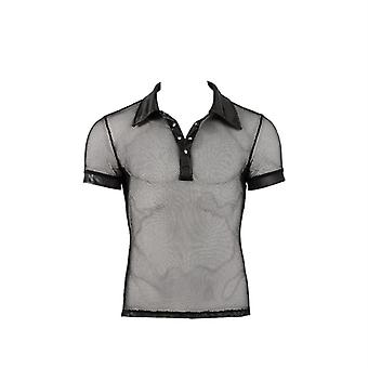 FishNet with a wet look polo shirt