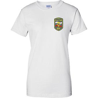 Russian Airborne Military Insignia - Elite Army Special Forces - Ladies Chest Design T-Shirt