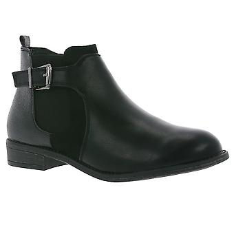 Jane Klain ladies ankle boots black with buckle