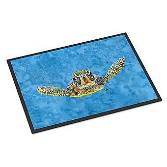 Kommen bei U Karettschildkröte Indoor oder Outdoor Mat 18 x 27