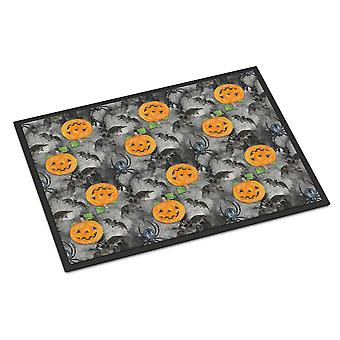 Watecolor Halloween Jack-O-Lantern Fledermäuse innen- oder Außenbereich Mat 24 x 36