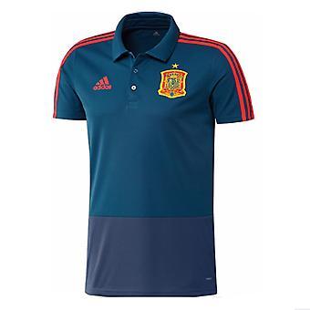 2018-2019 Spain Adidas Training Polo Shirt (Blue)