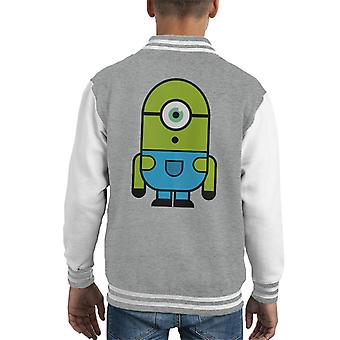 Verde Vazovsky di Mike Minion Cattivissimo Me Monsters Varsity Jacket Inc capretto
