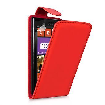 Yousave Zubehör Nokia Lumia 925 Lederoptik Flip Case - rot