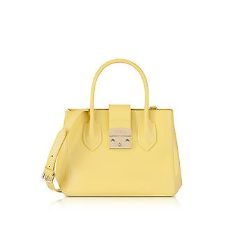 FURLA ladies 921176 yellow leather handbags