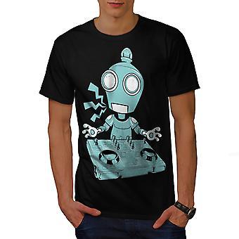 DJ Robot platine CD BlackT-chemise homme   Wellcoda