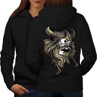 Scared North Joke Women BlackHoodie Back | Wellcoda