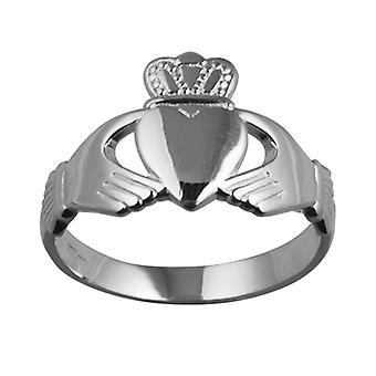 Silver 23x15mm Claddagh Ring Size R