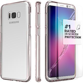 S8 SaharaCase Galaxy Plus caso claro, Kit de protección con ZeroDamage templado vidrio pantalla - rosa de oro