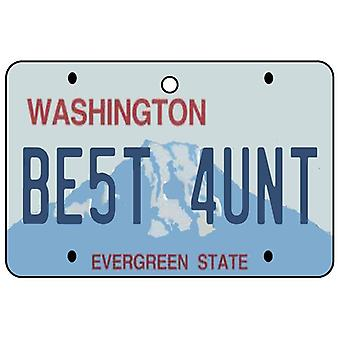 Washington - Best Aunt License Plate Car Air Freshener