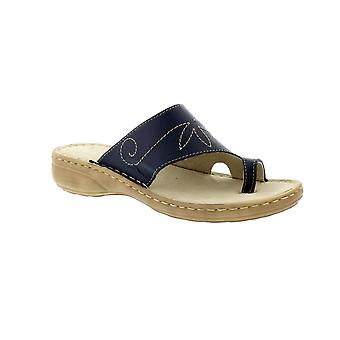 Marco Tozzi Phoebe 27900 - Navy (Leather) Womens Sandals