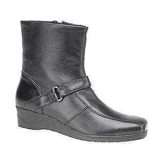 Ladies Womens Zip Softie Leather Upper Sock Padded Lining Ankle Boots Shoes